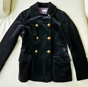 Vince NWOT black belvet jacket w/ gold button
